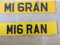 Personalised Number Plate M1 6RAN