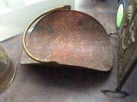 Copper scuttle bucket