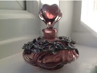 Beautiful Mauve Perfume Bottle with Heart Shaped Bottle Top