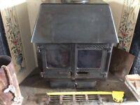Wood Warm country log wood burner stove