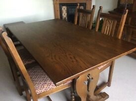 Old Charm dining dining table and chairs
