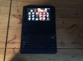 """64 GB 7"""" Blackberry Playbook with hard case and built in Bluetooth keyboard"""