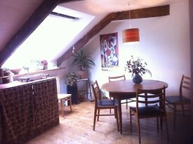 two rooms in lovely large attic short let mid Dec/mid March
