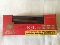 Nicky Clarke DesiRED professional hair straighteners - brand new