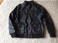 Kids smart leather effect jacket for age 9-10