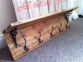 solid rustic wooden shelves