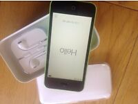 I phone 5c green 8gb. Original box,sim removal, headphones and plug all unused and charging lead