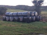 Round Bale Silage Wrapped