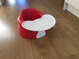 Bumbo child's seat with tray