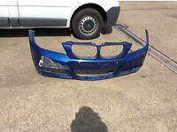 Bmw e90 e91 m sport front bumper facelift lci model le mans blue