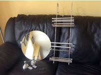 XX STAINLESS STEEL SHOWER CADDY AND FREE NEXT MIRROR XX