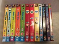 Family guy DVDs, series 1 - 11 plus Christmas special.