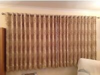 Dunelm curtains, Natural, Eyelet chrome, thermal lining, 300cmx158cm, excellent condition