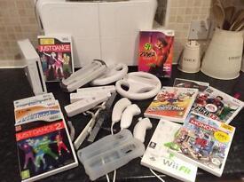 SOLD Massive Wii bundle incl console, Wii fit, Zumba,