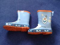 New boys olaf wellies wellington boots size infant 10