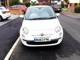 White Fiat 500 lounge 1.2 3dr (start/stop)