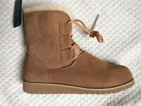 Emu Beach Collection Illawong Lace Up Sheepskin & Suede Boot Size 5 (UK) (165856)