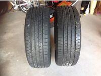 2 part worn tyres. 225/55 r19
