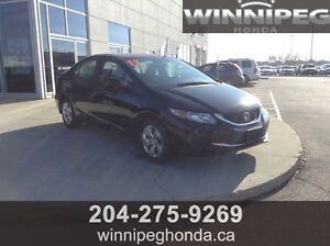 2013 Honda Civic LX. Lease return, One owner, Low kilometres, e