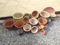 A Quantity of garden pots.