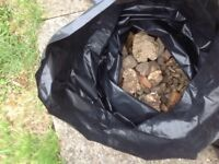 Garden Rubble clean and bagged