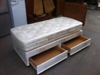 'MILLBROOK' SINGLE BED AND DELUXE POCKET SPRUNG MATTRESS ~~ CAN DELIVER TO WEST MIDLANDS