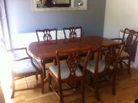 Wade extendable dining table & 6 chairs
