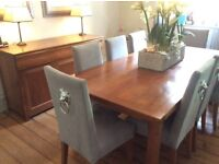 Stunning cherry wood dining table and sideboard