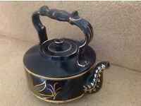 Black and gold decorative kettle