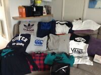 Excellent condition boys branded clothes to fit from aged 12 to 14