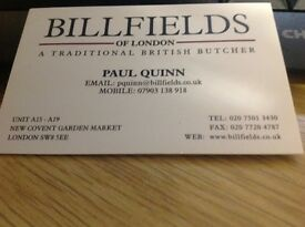 Delivery Driver Billfields Of London