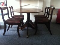 Dining Table (extendable) + 4 Chairs