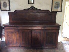 1800's Mahogany Chiffonier Sideboard