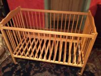Child's Mothercare cot