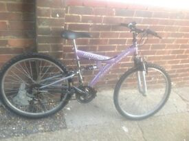Ladies Bolero Dual Suspension 18 Speed Mountain Bike