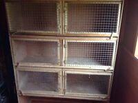 stacked bird cage hutch