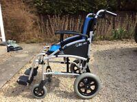Nearly new light weight wheelchair