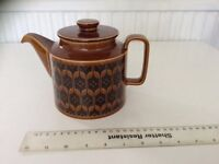 Vintage 1970's Hornsea Heirloom brown glazed teapot