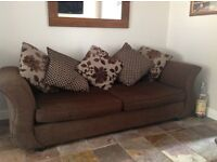 Large sofa with matching love chair and footstool