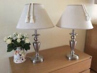 Pair of table lamps ideal for bedside tables etc