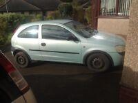 Vauxhall corsa 1.2 spares or repair