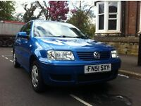 Blue VW Polo 2001 for sale. 1.4. 3 doors