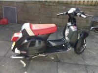 2011 lml ( Vespa Px ) 166 malossi mk3 , stainless exhaust