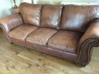 2 Beautiful DFS leather sofas £280