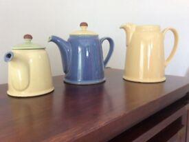 Denby teapots and jug
