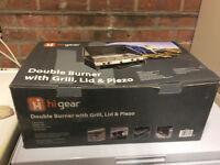 Hi Gear double burner with grill, lid & piezo