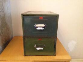 Vintage filing/index card cabinets
