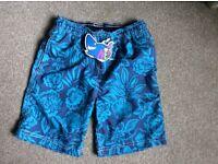 Next boys swimming shorts age 5-6 BNWT