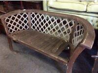 Ornate vintage cast iron garden bench
