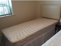 Two Good Quality, Super Clean Single Divan Beds with Headboards